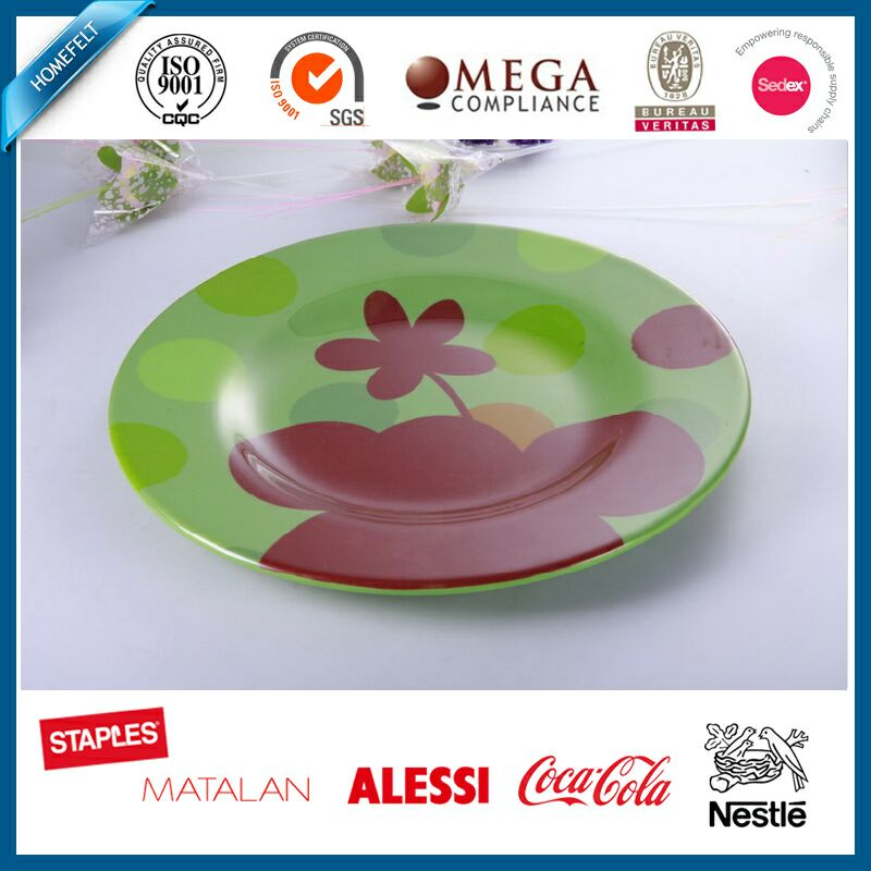 custom new design melamine serving tray