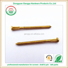 high quality brass oval head rose nails with spline