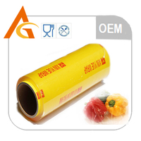 OEM food grade transparent food packing film pvc cling film for food