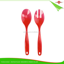 ZY-F1107A Disposable salad plastic serving fork and spoon set for salad spoon set