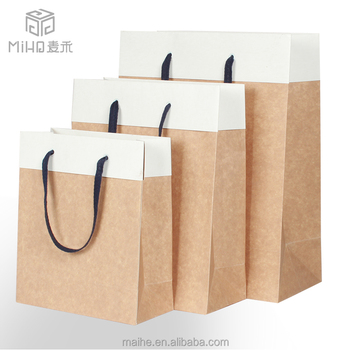 Wholesale Cheap Machine Made Paper Shopping Bag Printing