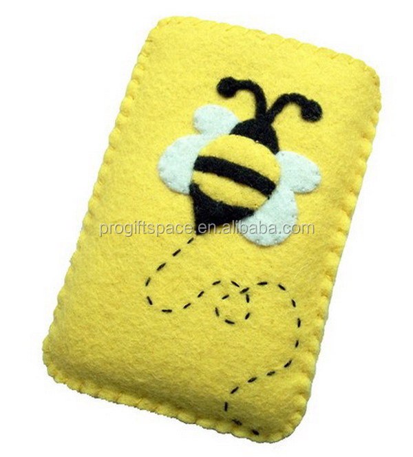 2017 hot sale eco friendly new products handmade promotional fabric felt cell phone case factory on alibaba express