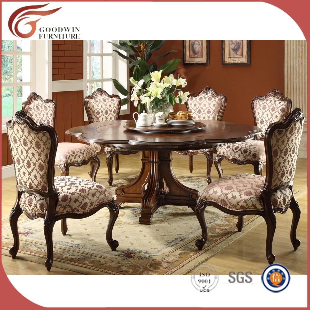 Venta al por mayor mesas y sillas de madera para comedor for Mesa redonda para 6 sillas