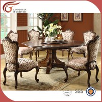 round dining table with 6 chairs,teak wood dining table and chair