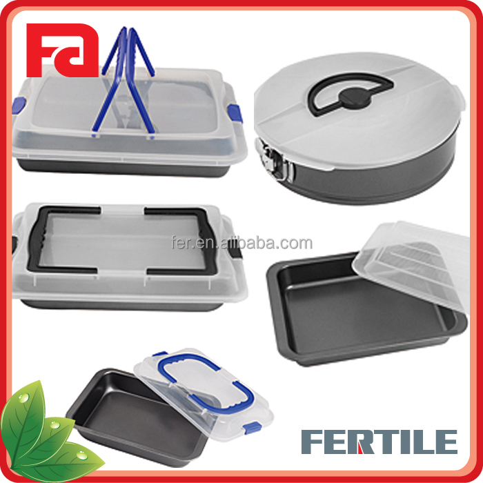 YQ Cake Pan Cake Mould bake tray with plastic cover