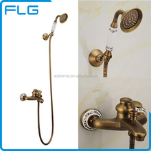 Wholesale high quality water saving antique cheap bath sets shower set shower bath