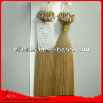 double drawn blonde human hair Micro Link Hair Extensions