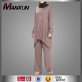 Muslim Ladies Tops and Pants Two Pieces Simple Style Sofer Islamic Clothing