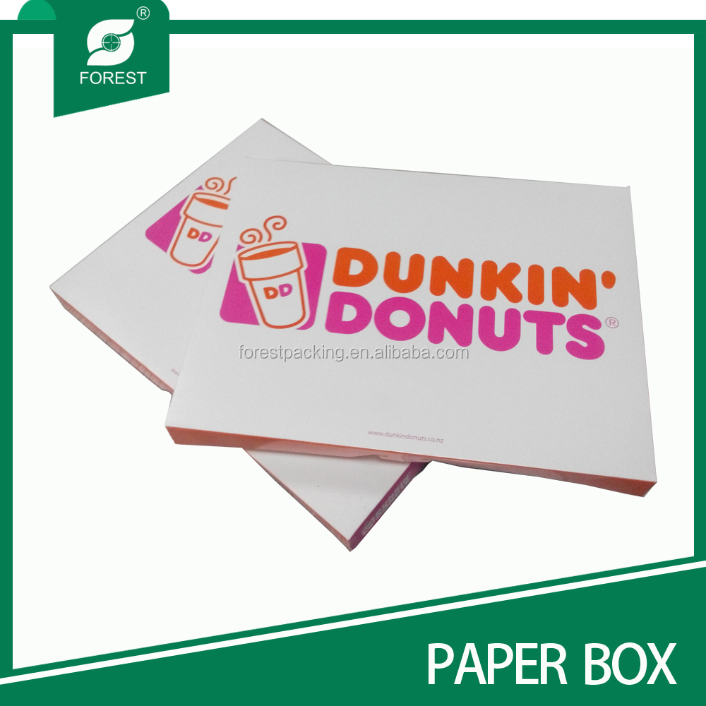 Direct factory cheap color cardboard paper box for donuts packaging