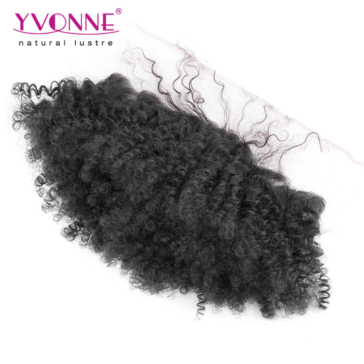 Free shipping lace frontal afro kinky curly lace frontal piece