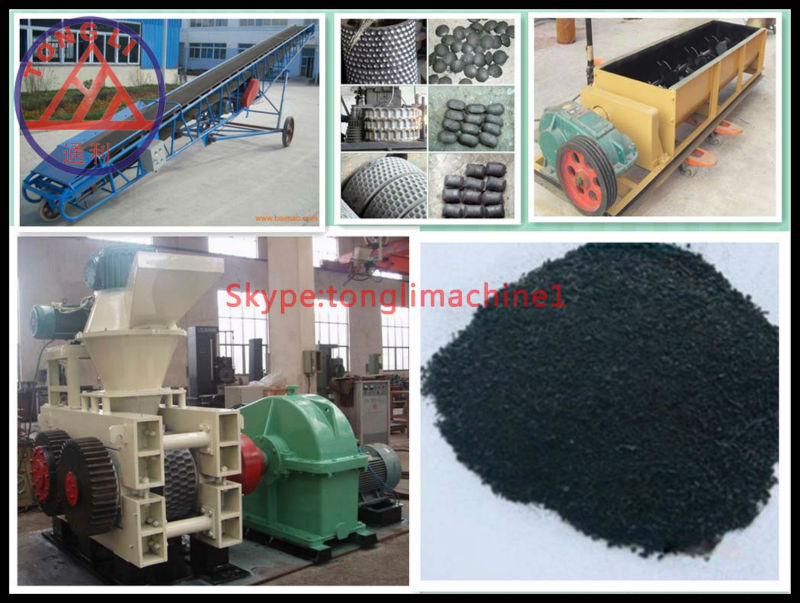 efficient charcoal ball briquette machine process from any coal ,charcoal powder