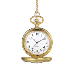 Wholesale Engraving Alloy Pocket Watch Necklace Women Quartz Chain Pocket Watch