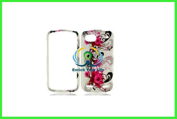 Red Flower on White Image Hard Plastic Phone Cover Case for ZTE Warp Sequent