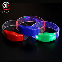New Business Ideas Cheap Price Sound Activated Logo Printed Custom LED Bracelet