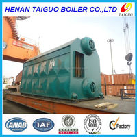 Trading & supplier china double drum industrial coal fired steam boiler steam 6 ton