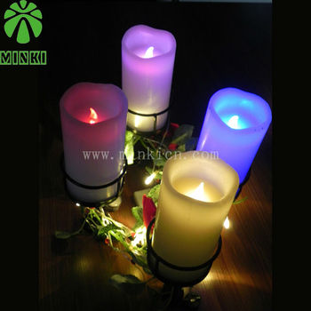 wholesale multi-colored flameless birthday candles 75*150mm