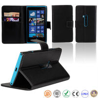 book style PU leather mobile phone case for Nokia lumia 920