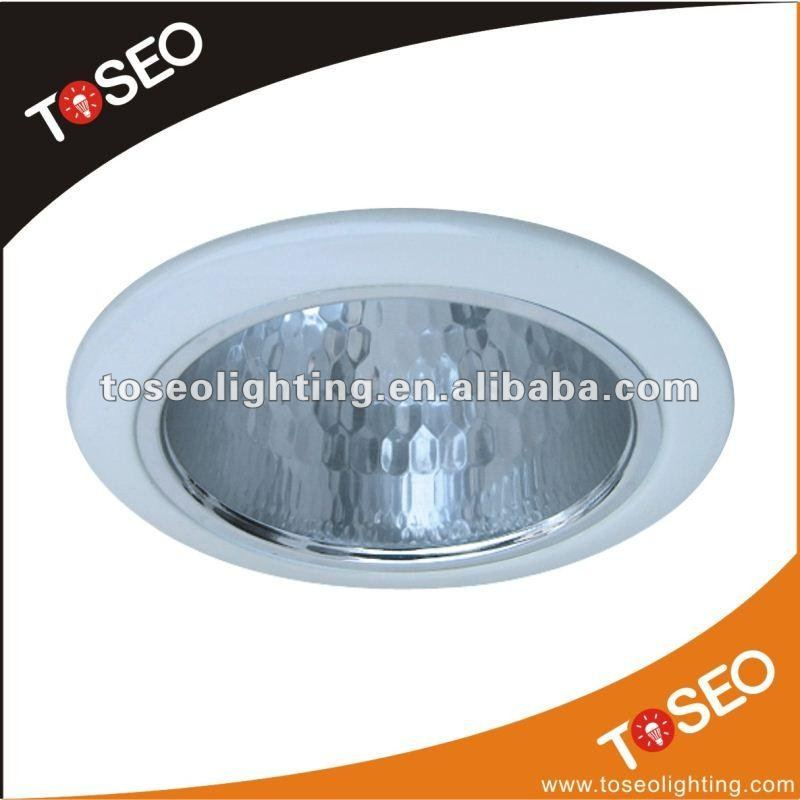 CFL round metal fluorescent light fixture cover