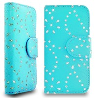 Diamond Shining PU Leather Wallet With Stand Phone Case Cover For Apple Iphone 5C