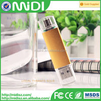 Free sample Metal OTG pendrive drive for Android and PC dual port 32gb