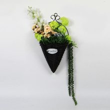 Christmas decoration plastic hanging basket plants with leaves for sale