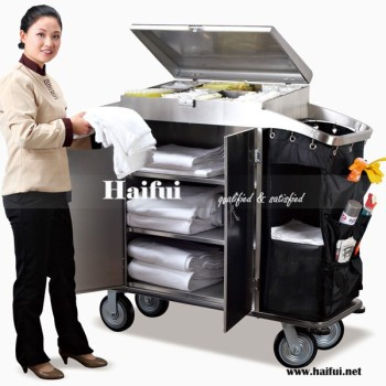 5 Stars Hotel Guestroom Stainless Steel Housekeeping Trolley/Cart