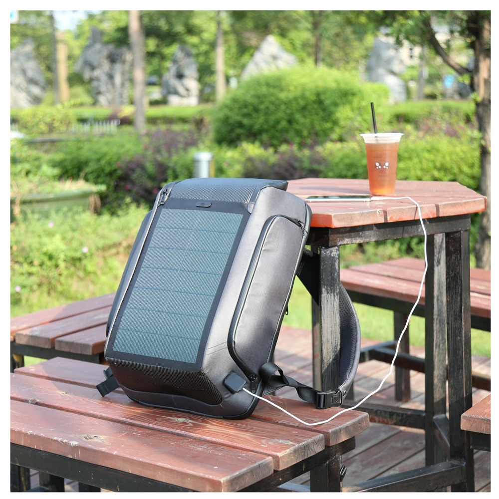 Kingsons high tech trend RFID blocking antitheft <strong>backpack</strong> bag rucksack smart solar <strong>backpack</strong> with buckle lock