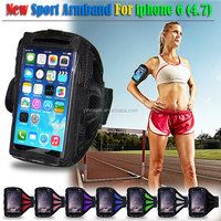 Popular sport armband jogging case for mobile phone, sport armband for iphone 6