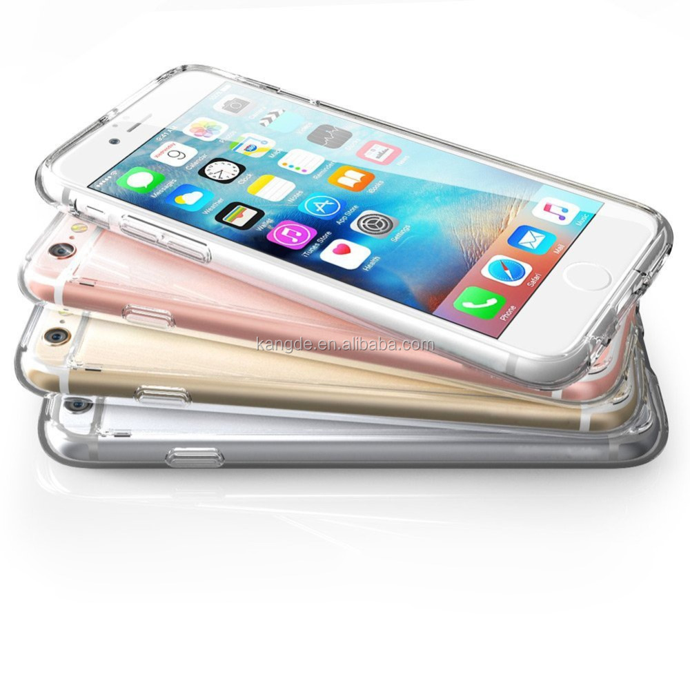 New Shock Scratch Resistant Clear Bumper Cases For Apple iPhone 6 Case 6s 4.7 Inch,New Hybrid Bumper Case Cover For Iphone6S