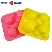 JianMei Brand good quality kitchen mouse shape cartoon silicone bakeware cake mould