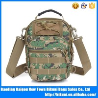 Wholesales online multi-function outdoor military woodland camouflage backpack messenger shoulder bag canvas handbag