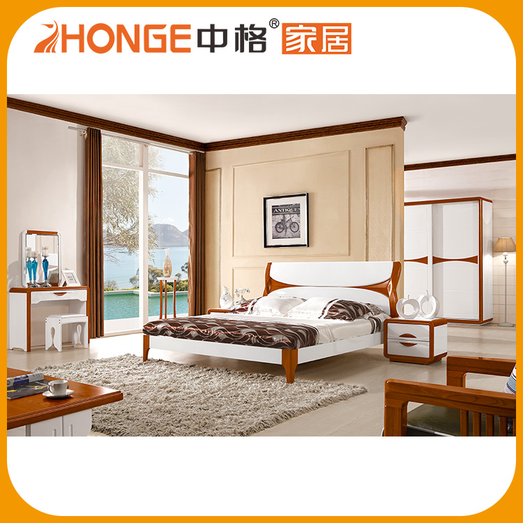 2016 Modern Quality Double Wooden Bed Room Furniture