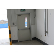 Used exterior metal security door with glass