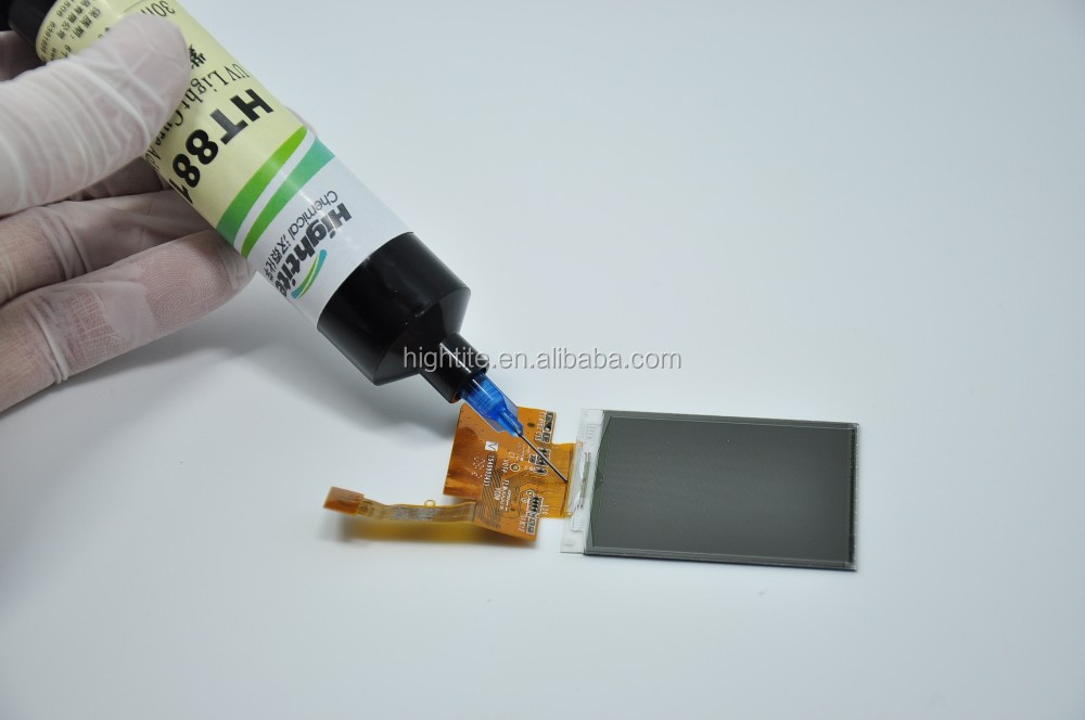 Manufacture Price HT8104 UV Glue Adhesive for LCD/Tuffy / LCM module/ COG,/ITO,/COF protectio
