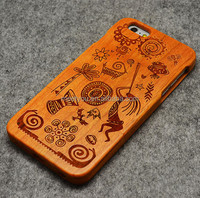 Laser engrave real wood phone case the tribe maya shape custom phone case phone case wood for iphone 4 4S