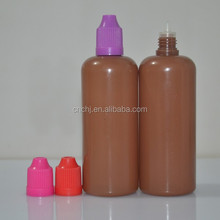 100ml pe dark brown cosmetic bottle/100ml pe dark brown dropper bottle childproof /100ml pe dark brown bottles childproof