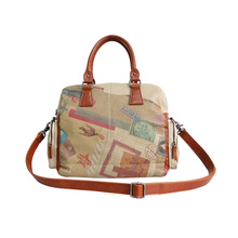 England Style Printing Classic Ladies Handbag with Detachable Shoulder Strap Material with Water Repellent Coating