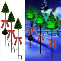 Christmas decoration metal solar light christmas tree light