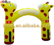 Cartoon Giraffe Inflatable Gate Arch Entrance