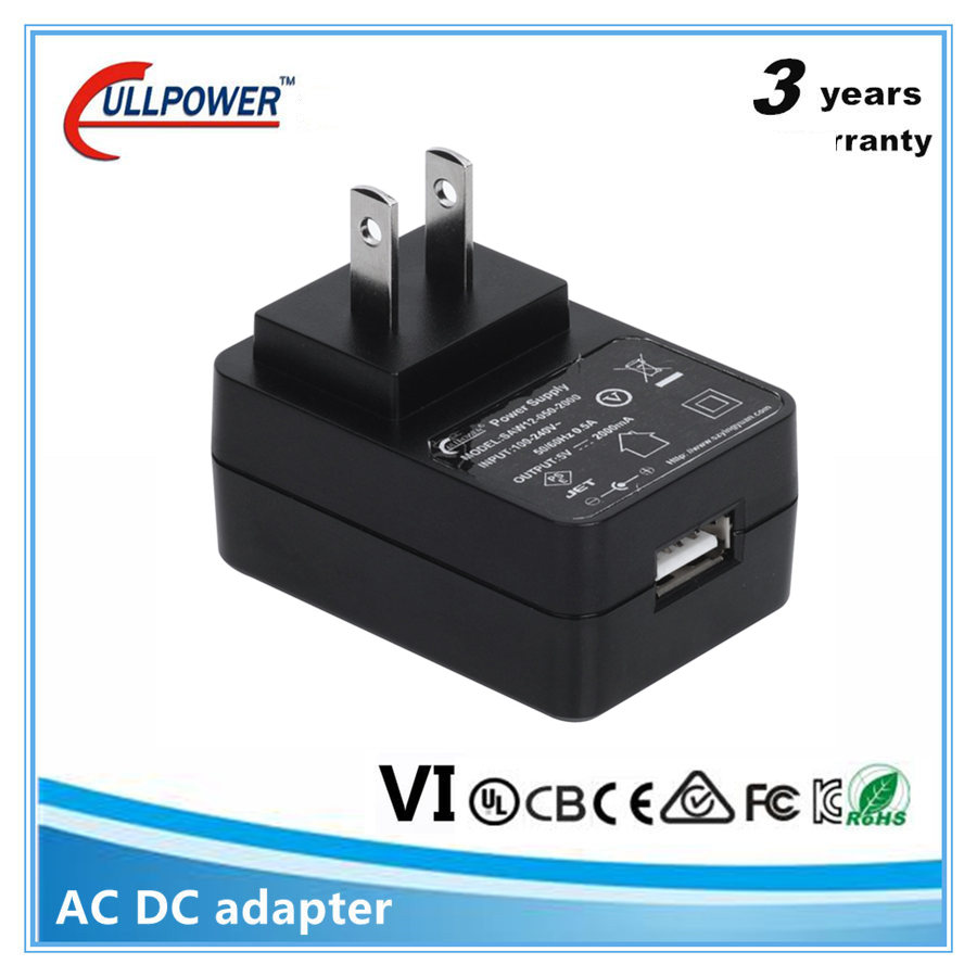 UL CE FCC GS PSE KC US EU UK wall mount 5v 2a USB AC DC Power Adaptor Adapter