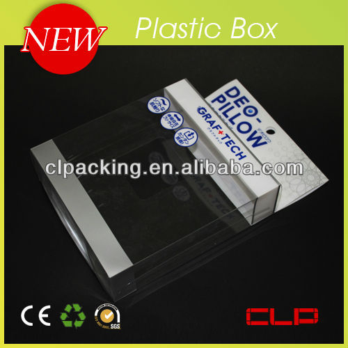 transparent plastic stationery box made in China