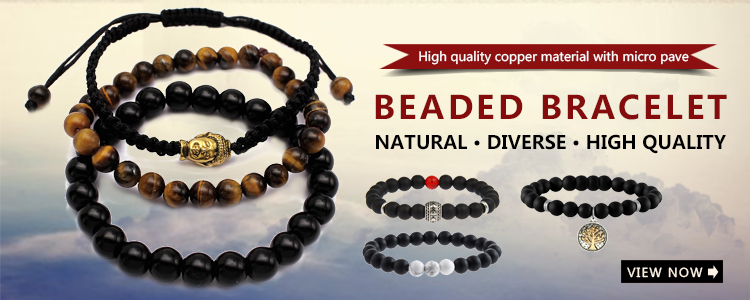 High Quality Black Natural Stone Jewelry Wholesale Men Women Stainless Steel Dream Faith Charms Custom Bead Bracelet
