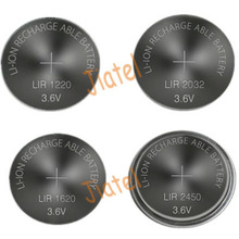 3.6V LIR1220 LIR2016 LIR2025 LIR2032 LIR2450 LIR2477 Rechargeable Button Battery