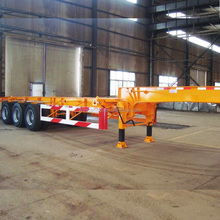 3 Axle 40tons 6 Wheel Skeleton Container Transport Chassis for Tow Tractor Truck