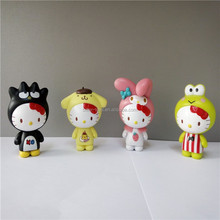 CUSTOM JP Cute mix color box pvc hello kitty toys/JP new design promotional hellokitty figure