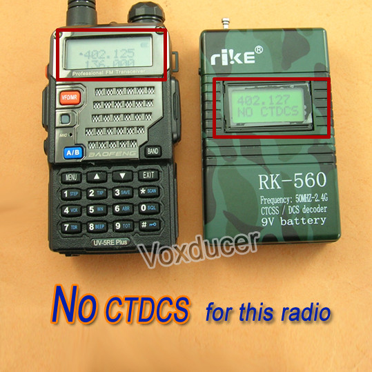 rike RK-560 Camouflage Handheld Frequency Counter 50MHZ-2.4GHZ Frequency Counter Meters CTCSS/DCS Decoder for Two-Way Radio Wa