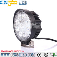 4.4inch 27w led working light for ATVs, SUV, UTV, truck, Fork lift, trains, boat, bus, and tanks