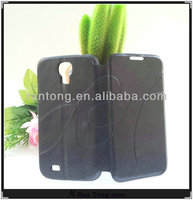 Wholesale black leather phone case for samsung galaxy S4