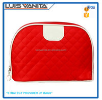 Red Satin Cosmetic Bag Fabric Cosmetic Bag Cute Lady Cosmetic Bag