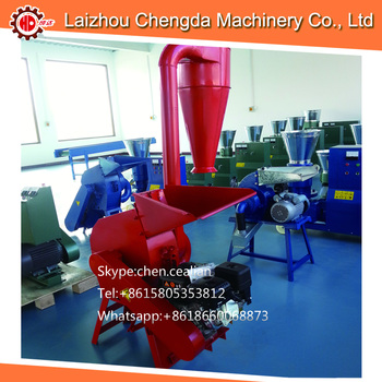 mini gasoline and electric wood crusher rice stalk wheat straw hammer mill